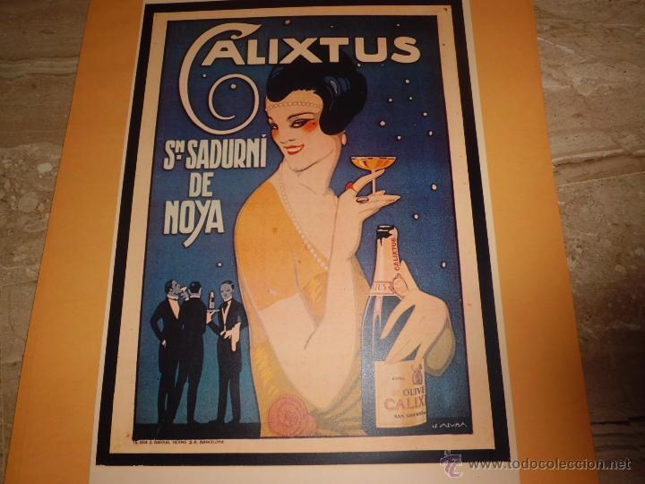 Carteles Publicitarios: lote de 8 carteles publicitarios 42x30 cm (osborne , anis asturiana etc)ver fotos - Foto 4 - 39790844