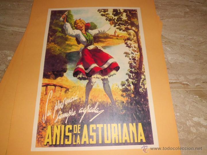 Carteles Publicitarios: lote de 8 carteles publicitarios 42x30 cm (osborne , anis asturiana etc)ver fotos - Foto 7 - 39790844