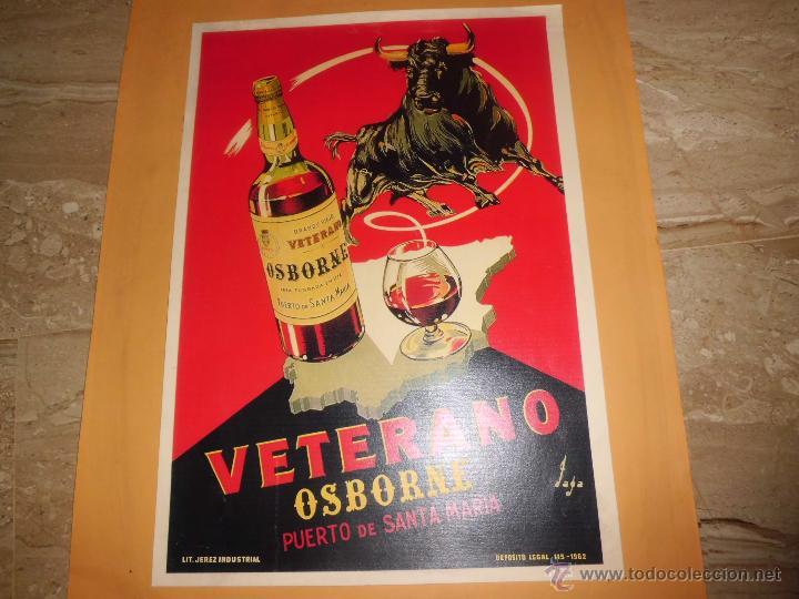 Carteles Publicitarios: lote de 8 carteles publicitarios 42x30 cm (osborne , anis asturiana etc)ver fotos - Foto 9 - 39790844