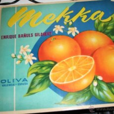 Werbeplakate - CARTEL MEKKA ENRIQUE BAÑULS GILABERT NARANJAS - 40121025