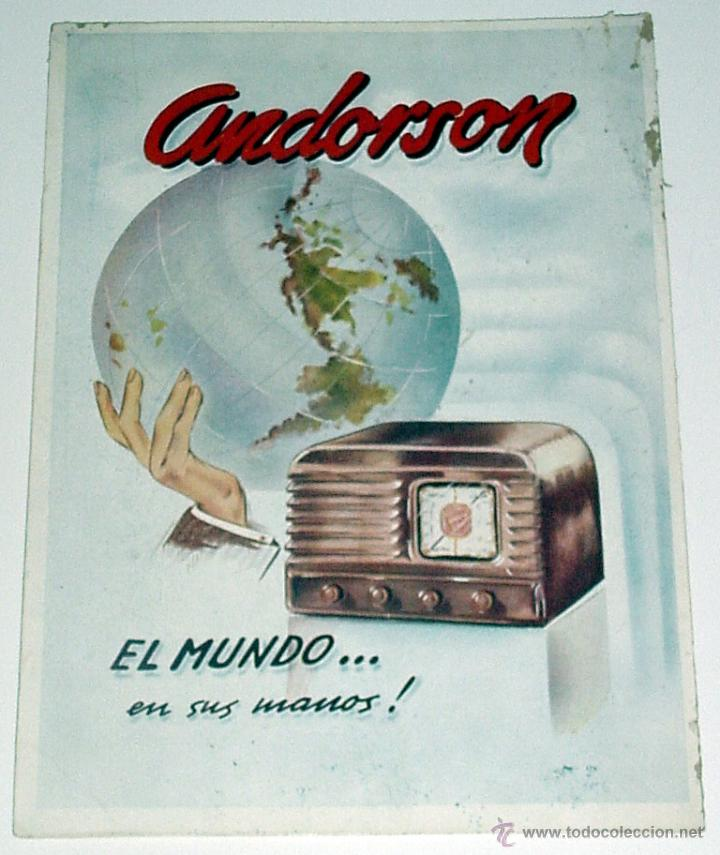 Antiguo cartel de publicidad de radios andorson comprar carteles antiguos publicitarios en - Carteles publicitarios antiguos ...