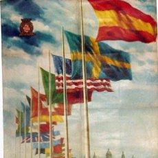 Carteles Publicitarios: ANTIGUO CARTEL DE LA XXIII FERIA INTERNACIONAL DE MUESTRAS DE BARCELONA DEL 1 AL 20 DE JUNIO DE 1955. Lote 38280891