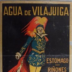 Carteles Publicitarios: ANTIGUO CARTEL PUBLICITARIO DE AGUA DE VILAJUIGA . Lote 40329285