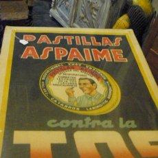 Carteles Publicitarios: CARTEL PUBLICITARIO PASTILLAS CONTRA LA TOS. Lote 40526161