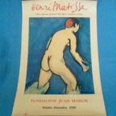 Carteles Publicitarios: CARTEL PUBLICITARIO EXPOSICION DE HENRI MATISSE EN MADRID EN 1980, FUNDACION JUAN MARCH. Lote 40549247