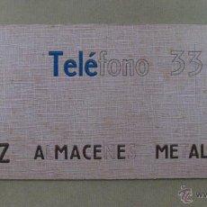 Carteles Publicitarios: CARTON DURO PUBLICIDAD PERAZ ALMACENES METALURGICOS - AÑOS 1950-60. Lote 40970015