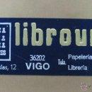 Carteles Publicitarios: CARTON DURO PUBLICIDAD PAPELERIA LIBRERIA LIBROURO S.A., VIGO - AÑOS 1950-60. Lote 40970157