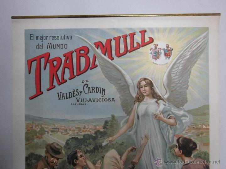Carteles Publicitarios: CARTEL PUBLICITARIO - TRABMULL - FARMACIA - VILLAVICIOSA ASTURIAS - MIDE 43 X 63 CM. - Foto 3 - 52349082