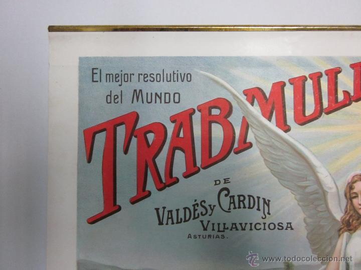 Carteles Publicitarios: CARTEL PUBLICITARIO - TRABMULL - FARMACIA - VILLAVICIOSA ASTURIAS - MIDE 43 X 63 CM. - Foto 4 - 52349082
