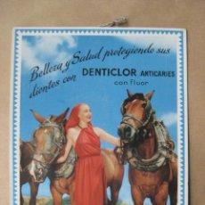 Carteles Publicitarios: DISPLAY DENTICLOR - ANTICARIES CON FLUOR - AÑOS 1950. Lote 64591887