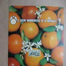 Carteles Publicitarios: DISPLAY II SALON MONOGRAFICO DE LA NARANJA - 45 FERIA MUESTRARIO INTERNACIONAL DE VALENCIA - 1967. Lote 15708771
