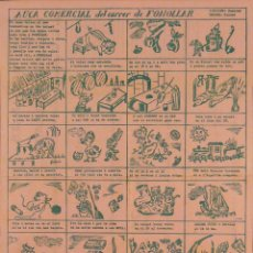 Carteles Publicitarios: CARTEL AUCA COMERCIAL DEL CARRER DE FONOLLAR. Lote 41610646