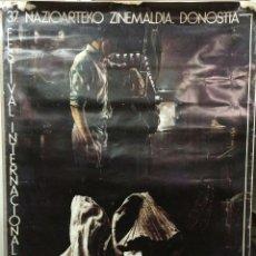 Carteles Publicitarios: CARTEL 37 FESTIVAL INTERNACIONAL DE CINE DE SAN SEBASTIAN 1989 - PATROCINADOR OFICIAL TVE. SAN SEBAS. Lote 42406169