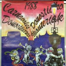 CARTEL CARNAVALES DONOSTIARRAS 1988 - CON PUBLICIDAD DE CODORNIU. San Sebastian: 1988. 60x90. Cartel