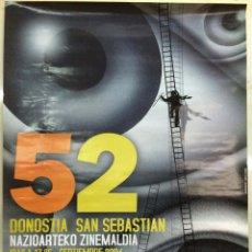 CARTEL 52 FESTIVAL INTERNACIONAL DE CINE DE SAN SEBASTIAN 2004. San Sebastian: 2004. 48x68. Cartel.