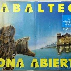 Carteles Publicitarios: CARTEL XXXV FESTIVAL INTERNACIONAL DE CINE DE SAN SEBASTIAN 1987 - ZABALTEGUI - ZONA ABIERTA. SAN SE. Lote 42406397