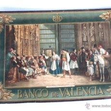 Carteles Publicitarios: PRECIOSO POSTER CARTEL PUBLICIDAD BANCO DE VALENCIA TRIBUNAL AGUAS VALENCIA FERRANDIS CALENDARIO. Lote 42442264