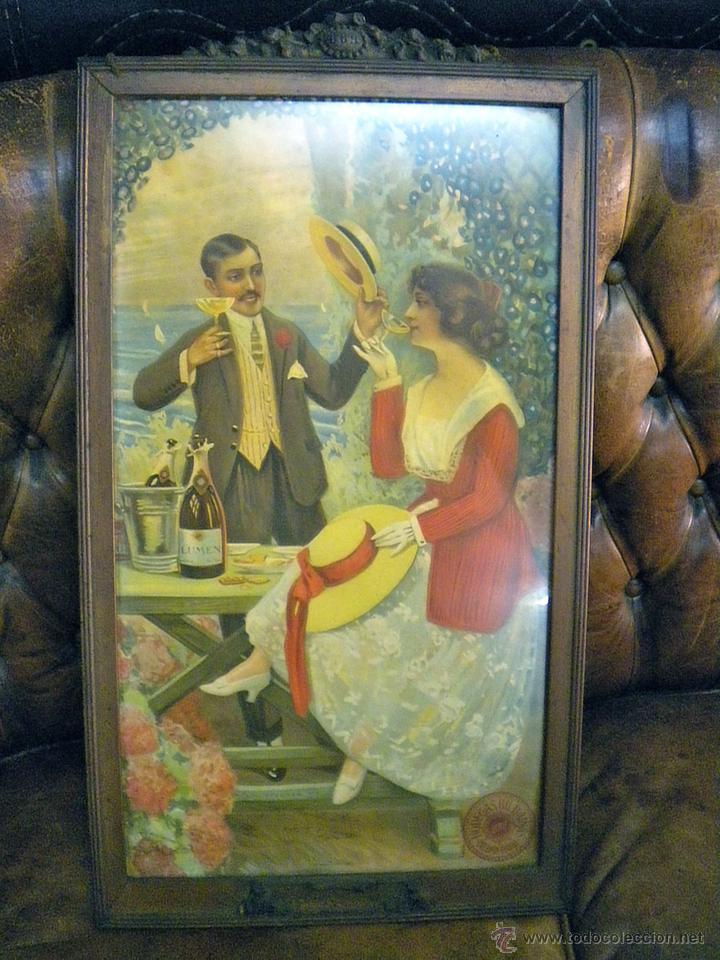 antiguo cartel publicitario de bodegas bilbaina - Comprar Carteles ...