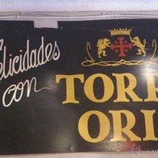 Carteles Publicitarios: ENORME CARTEL PUBLICITARIO METALICO DE CAVA TORRE ORIA (UTIEL - REQUENA). Lote 42525452