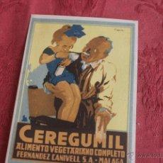Carteles Publicitarios: ANTIGUO CATÁLOGO CEREGUMIL ALIMENTO VEGETARIANO. CALENDARIO DE FUTBOL. Lote 43542060