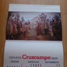 Carteles Publicitarios: LOTE 2 CARTELES CERVEZAS CRUZCAMPO (VER IMAGEN ADICIONAL). Lote 43583905