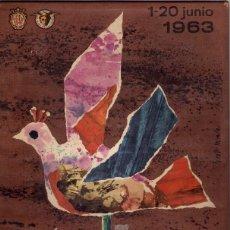 Carteles Publicitarios: CARTÓN PROPAGANDA DE LA XXXI FERIA OFICIAL E INTERNACIONAL DE MUESTRAS EN BCN - 1963. Lote 43675226