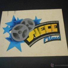 Carteles Publicitarios: SIECE FILMS - DIBUJO ORIGINAL A COLOR TAMAÑO 17 X 23 CMS.. Lote 44192026