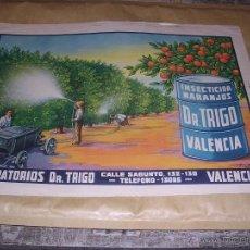 Carteles Publicitarios: ANTIGUO CARTEL LABORATORIOS DR.TRIGO VALENCIA INSECTICIDA DR. TRIGO VALENCIA AUT. F. CABALLER . Lote 44242677