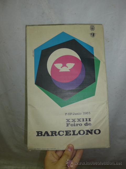CARTEL EXPOSITOR DE FERIA DE MUESTRAS DE BARCELONA, 1964, EN PORTUGUES (Coleccionismo - Carteles Gran Formato - Carteles Publicitarios)