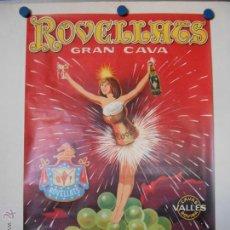 Carteles Publicitarios: CHAMPAGNE ROVELLATS - CARTEL PUBLICITARIO - LITOGRAFICO. Lote 44842189