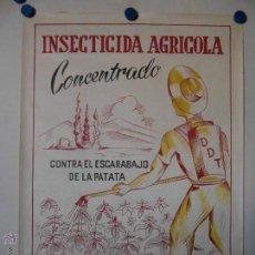 Carteles Publicitarios: INSECTICIDA AGRICOLA EXCELSIOR - CARTEL PUBLICITARIO - LITOGRAFICO. Lote 44842436