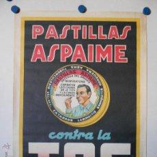 Carteles Publicitarios: PASTILLAS ASPAINE - CARTEL PUBLICITARIO - LITOGRAFICO. Lote 44842474