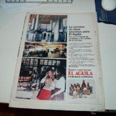Carteles Publicitarios: HOJA PUBLICITARIA ALCOHÓLICA DE CERVEZA ÁGUILA . HACIA 1970. PEDIDO MÍNIMO: 4 HOJAS. Lote 44942074