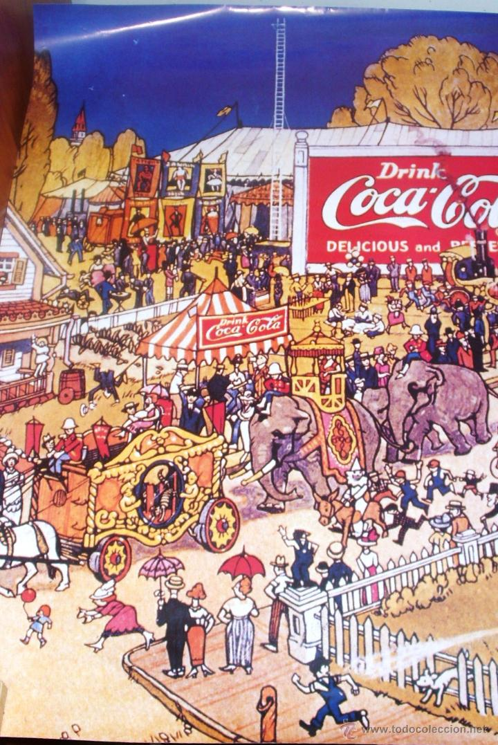 CARTEL - POSTER DE GRAN TAMAÑO 87 X 68 CMS.DE COCA COLA, EL CIRCO (Coleccionismo - Carteles Gran Formato - Carteles Publicitarios)