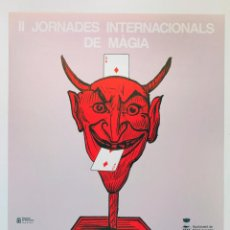 Carteles Publicitarios: II JORNADES INTERNACIONALS DE MÀGIA, MOLLET DEL VALLÈS, 1992. JOAN BROSSA. CARTEL 34X48CM. . Lote 45958043