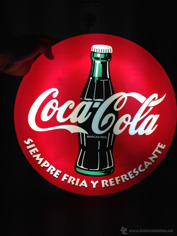 Fantastico Cartel Circular Luminoso De Coca Col Sold Through Direct Sale 46310930