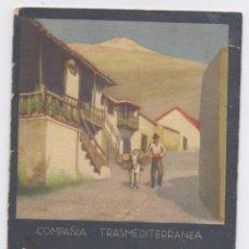Carteles Publicitarios: COMPAÑIA TRANSMEDITERRANEA-TARIFAS Y HORARIOS DE PASAJES-AÑO1933/1934. Lote 47120694
