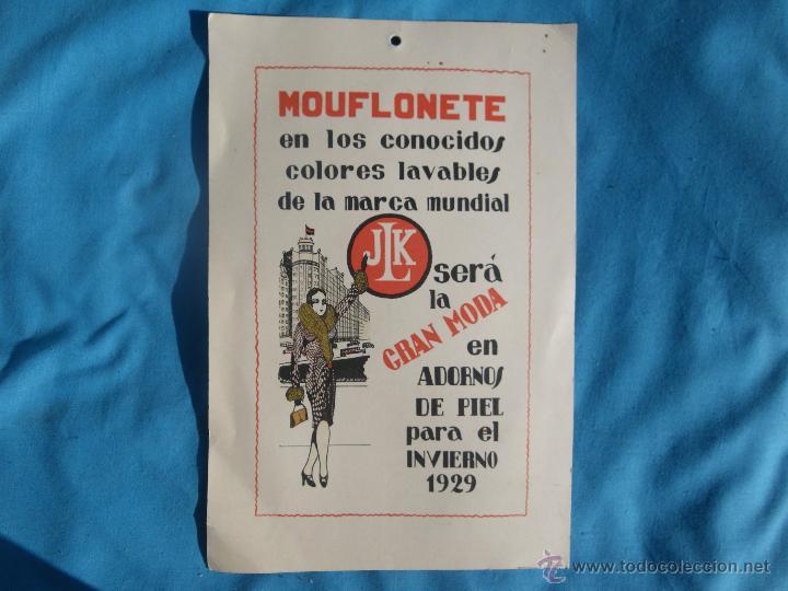 PUBLICIDAD DE MOUFLONETE JLK MODA INVIERNO AÑO 1929 ..... VER (Coleccionismo - Carteles Gran Formato - Carteles Publicitarios)
