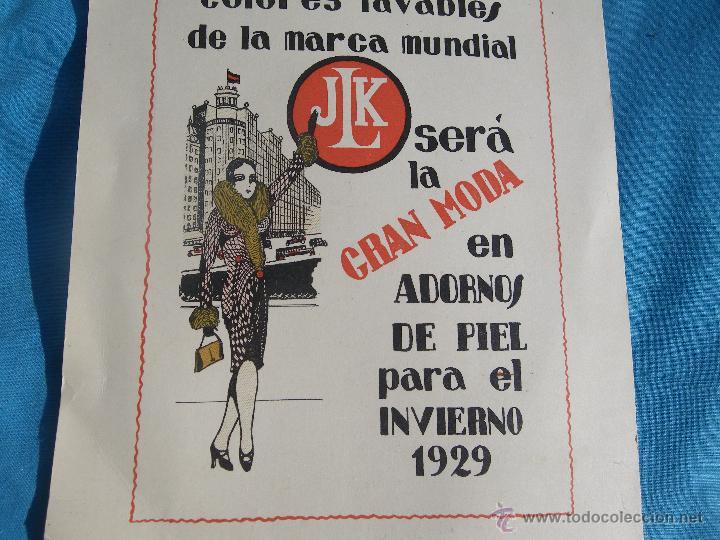 Carteles Publicitarios: PUBLICIDAD DE MOUFLONETE JLK MODA INVIERNO AÑO 1929 ..... VER - Foto 2 - 47287781