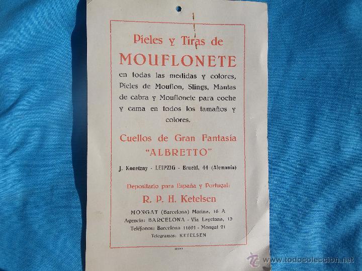 Carteles Publicitarios: PUBLICIDAD DE MOUFLONETE JLK MODA INVIERNO AÑO 1929 ..... VER - Foto 3 - 47287781