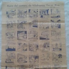 Carteles Publicitarios: AUCA DEL COMERÇ DE VILAFRANCA DEL PENEDES - FIRES DE MAIG 1959 - MIDE 34,7 X 5O - FOTOS ADICIONALES. Lote 47388970