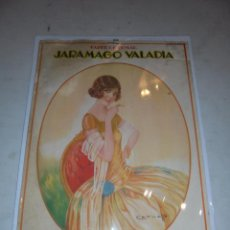 Carteles Publicitarios: TABACO - PAPEL DE FUMAR - CARTEL CARTON PAPEL DE FUMAR JARAMAGO VALADIA ILUST. CERVELLÓ BARCELONA . Lote 47586090
