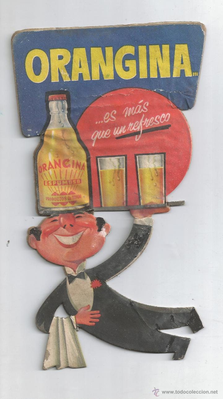 Cartel publicidad carton troquelado orangina de comprar - Carton valencia ...