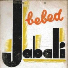 Carteles Publicitarios: CARTEL PUBLICIDAD DECORACION CARTON BEBED JABALI REFESCO 1925 - 1935. BAR RESTAURANTE BARCELONA. Lote 48224276