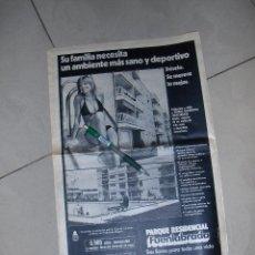 Carteles Publicitarios: PARQUE RESIDENCIAL FUENLABRADA, AMBIENTE SANO Y DEPORTIVO. PUBLICIDAD.. Lote 48295780