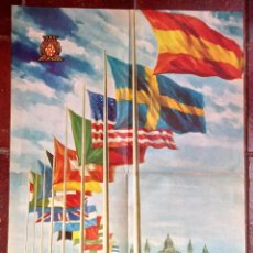 Carteles Publicitarios: CARTEL PUBLICIDAD XXIII FERIA OFICIAL INTERNACIONAL DE MUESTRAS CONGRESO1955 BARCELONA VINTAGE (50). Lote 48398744