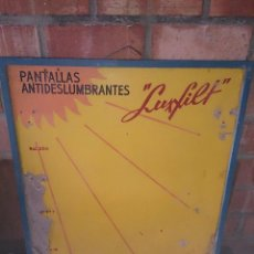 Carteles Publicitarios: CARTEL PANTALLAS ANTIDESLUMBRANTES LUXFILT. Lote 48461585
