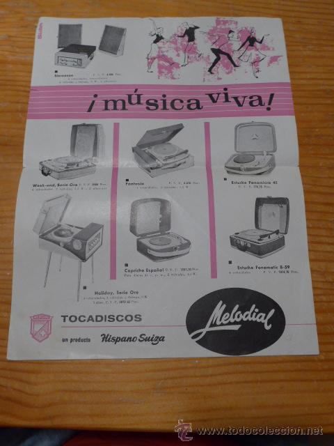 ANTIGUO CARTEL PUBLICIDAD DE TOCADISCOS, TOCADISCO MUSICA, PUBLICITARIO (Coleccionismo - Carteles Gran Formato - Carteles Publicitarios)