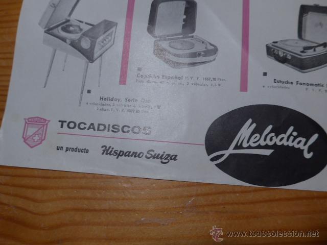 Carteles Publicitarios: Antiguo cartel publicidad de tocadiscos, tocadisco musica, publicitario - Foto 2 - 48680395