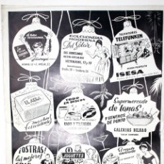 Carteles Publicitarios: CARTEL PUBLICITARIO COMERCIOS DE BILBAO. CAMPAÑA NAVIDEÑA. AÑOS 60. Lote 49618212